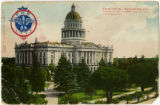 State Capitol, Sacramento, California Entrance to Park, At Corner 10th and L Streets, Looking...