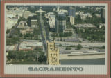 Sacramento from the Air Looking Down Capitol Avenue