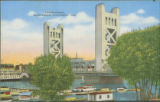 Illustrated Tower Bridge from the West Bank, Sacramento, California